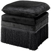 Comparador de precios Casa-Padrino Luxury Stool Black 41 x 41 x H. 42 cm - Hotel Stool Furniture - precios baratos