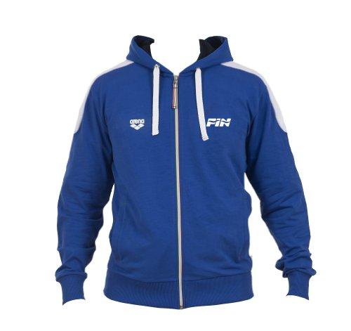 Arena Hooded F/Z JACKET FIN II Felpa con cappuccio  Unisex adulto, Collezione Italia per la Federazione Italiana Nuoto (FIN), Blu, S