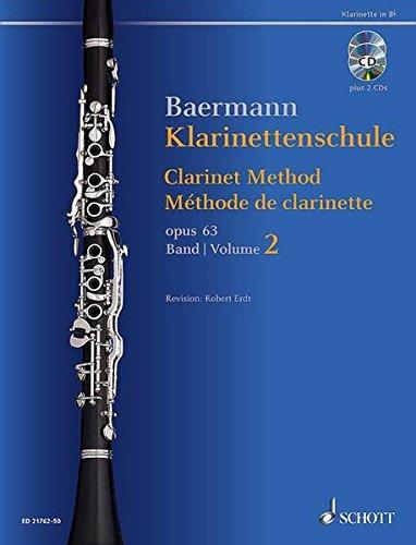 Klarinettenschule: Band 2: No. 34-52. op. 63. Klarinette in B. Ausgabe mit 2 CDs. (Baermann - Klarinettenschule)