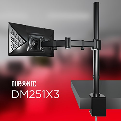 Duronic DM251X3 one LCD LED Desk 13 27 Mount adjustable rate mortgage Monitor have Bracket together with Adjustibility Tilt 45 Swivel 90 Rotate 36010 Year guaranty Monitor Arms Stands