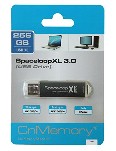 CnMemory 256 GB USB Stick USB 3.0 SpaceloopXL Schwarz