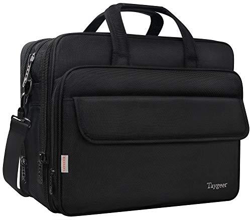 Taygeer Borsa da 17 pollici per laptop borsa Messenger espandibile per computer borsa da viaggio impermeabile da viaggio per ufficio valigetta da