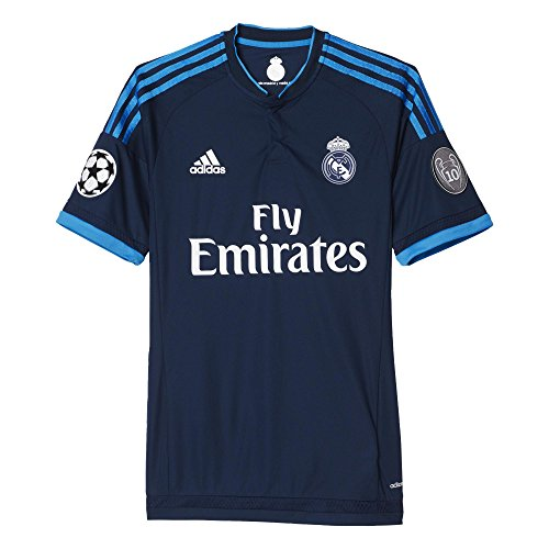 adidas Herren Kurzarm Ausweichtrikot Real Madrid Authentic Night Indigo/Bright Blue, L -