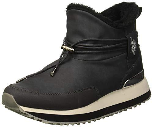 U.S. POLO ASSN. Vanessa, Sneaker a Collo Alto Donna, Grigio (Dark Grey Dk Gr), 39 EU