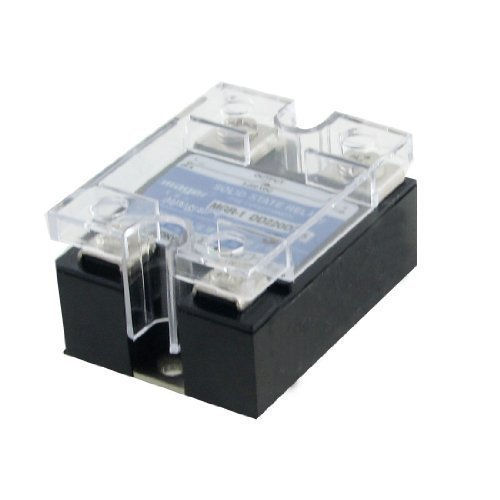 Preisvergleich Produktbild sourcingmap® DC auf DC Einzel Phase Halbleiterrelais SSR 25A 3-32V 5-220V mit Transparentem Deckel