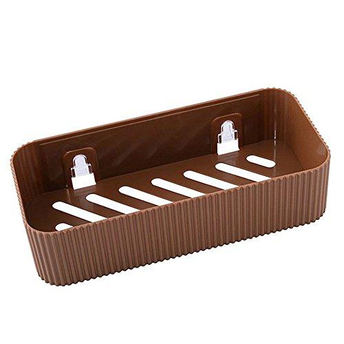Xshuai Küchen-Badezimmer-Wand-Speicher-Regal-hängendes Gestell-Ecken-Korb-Halter-Organisator (Kaffee) - Chrom-speicher-korb