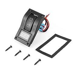 Impermeabile LED 12-24V doppio Digtal voltmetro batteria Panel Test Interruttore a bilanciere per moto auto camion Marine