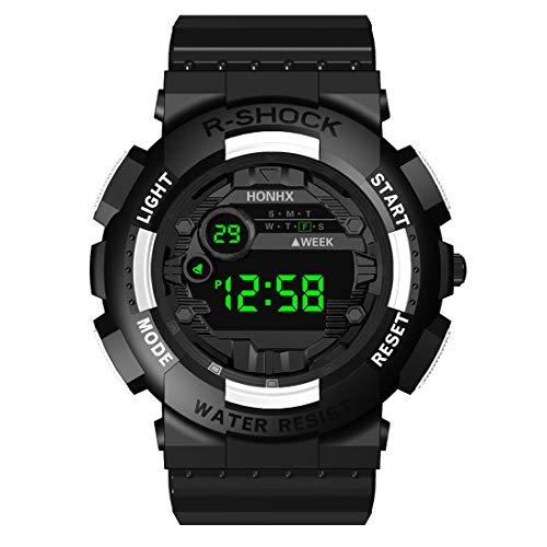 Floweworld Sportuhren Herren Digital Multifunktionsuhren Date Sport Herren Outdoor Elektronische Uhren (Schwerlast-vakuum)