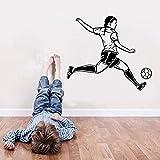 JHping Wandsticker Jhpingwandaufkleber Passion Player Football Senior Wasserdichte Tapete Wandbild Football Player Mädchen Schlafzimmer Wanddekoration 66 * 58 Cm