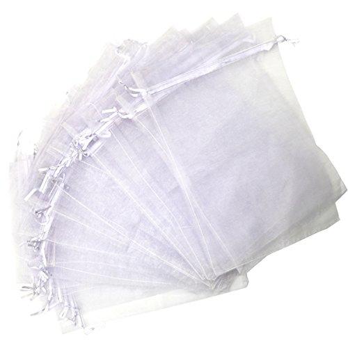 20x30cm Weiße Organza Beutel Groß für Hochzeitsfeiertaschen Schmucktaschen (Großer Organza-beutel)