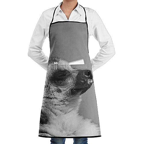 Sangeigt Küche, die Garten-Schürze kochtn, Bib Apron Pockets Lemur Play Tuba Durable Cooking Kitchen Aprons
