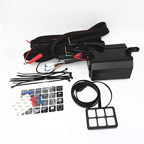 MiaLian 6-Gang Bit Touch Switch Panel Current Control System Box Wasserdicht Sicherungsrelais Kit für Auto Boot