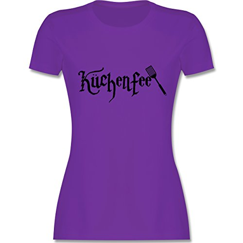 Küche - Küchenfee - tailliertes Premium T-Shirt mit Rundhalsausschnitt für Damen Lila
