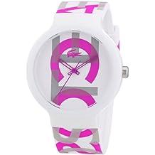Lacoste 2020064 - Reloj analógico de cuarzo unisex, correa de silicona multicolor