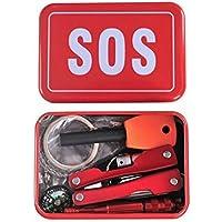 SODIAL Camping Wandern Multifunktionswerkzeuge und Ausruestung Set Notfall-Box Notfall liefert SOS im Freien Selbst... preisvergleich bei billige-tabletten.eu