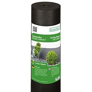 GardenMate Malla geotextil 150 g/m² – Geotextil para jardín – Muy Resistente al desgarro – Estabilizada contra UV