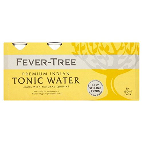 Fever Tree Premium Indian Tonic Water Cans 8x150ml