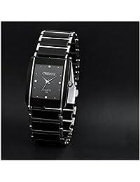 ufengke® retro nachahmung quadrat wahl armbanduhren,beliebte strass armbanduhren für herren-schwarz