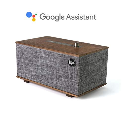 Klipsch The Three GVA Google Assistant Lautsprecher Wireless, Schwarz (Akustik-wireless-lautsprecher)