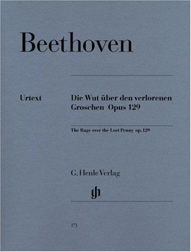 Die Wut über den verlorenen Groschen op. 129. Klavier