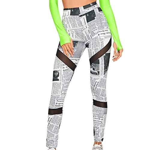 QIMANZI Yogahose Damen Sportleggings Nahtlos Mit Colour Blocking Design Yoga Sport Hose Workout Training Capri Leggings Innentasche(A Weiß,S) -
