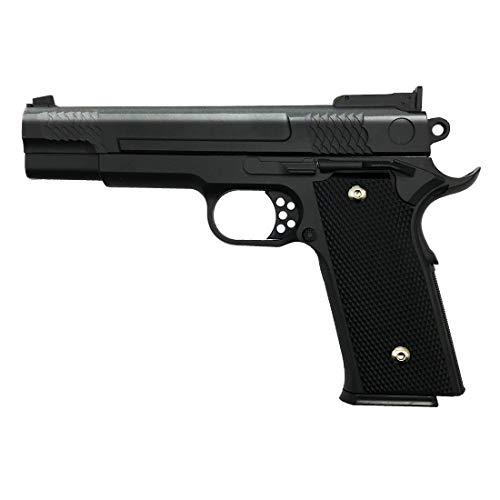 Rayline Pistola Airsoft Softair G20 Full Metal (presión de Resorte Manual), Escala 1: 1, Peso 660 g, Longitud 19.5 cm, Calibre 6 mm, Color: Negro/Negro