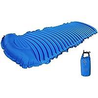 DEED ?Diversión Suministros Coche - Estilo Parejas Choque Coche Coche de Estilo General en la Cama de la Cama Inflable Medioambiental,Azul,185 x 74 cm