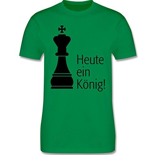 JGA Junggesellenabschied - Heute ein König - Herren Premium T-Shirt Grün