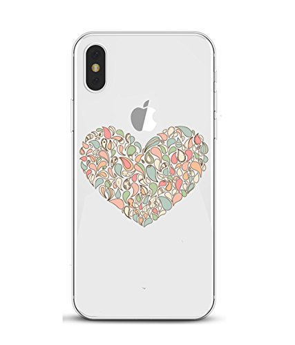 iPhone X Hülle,EinsAcc Transparent Silikon Dream Catcher Slim Schutzhülle Hülle für iPhone X (2) 1