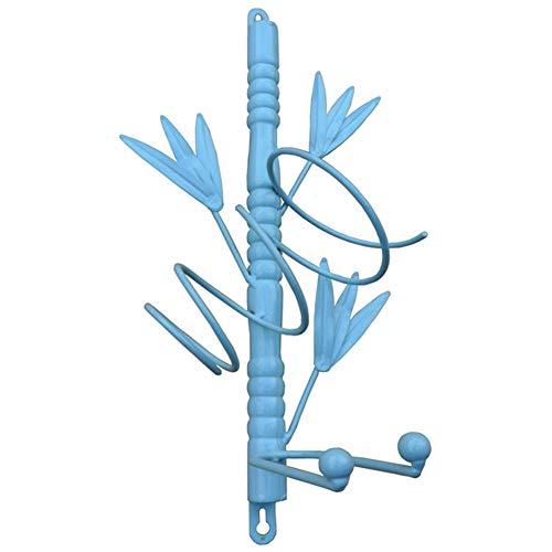 YANZHEN-Bottle Rack For Iron Simple and Modern Antioxidant Wall Mounted Slanting Iron Shape Flower Shape, 2 Styles
