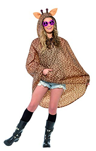 Giraffen Party Poncho mit Zugbeutel, One ()