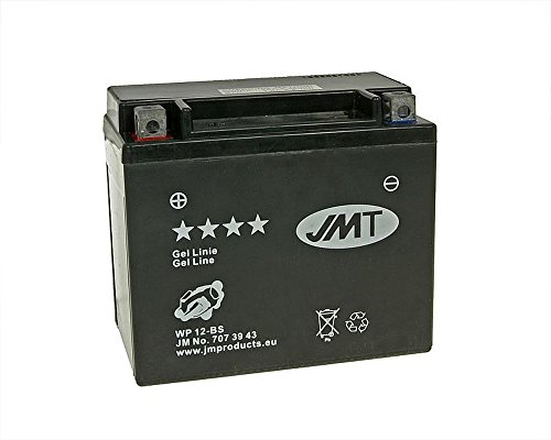 12 Volt Batterie JMT GEL - YTX12-BS inklusive 7,50 Euro BATTERIEPFAND
