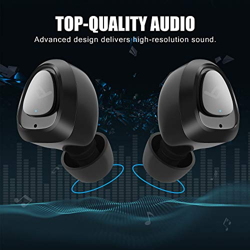 LETSCOM Bluetooth Kopfhörer kabellos in Ear Bluetooth 5.0 Headset Headphones Stereo Mini Kopfhörer Sport Kopfhörer in Ear mit Ladebox und integriertem Mikrofon kaufen  Bild 1*