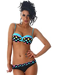 PF Fashion Femmes Push-Up Bikini points carrier Slip Adjustable Hipster