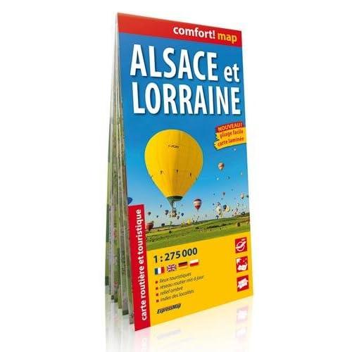 ALSACE ET LORRAINE  1/275.000 (laminée-gd format)