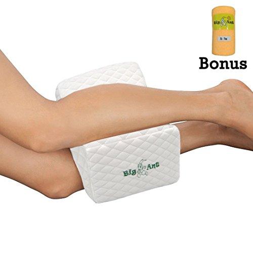 Orthopädisches Kniekissen für Ischiasentlastung - Bestes für unteres hinteres, Bein und Knie Schmerz- Gedächtnis-Schaum-Keil-Kontur-Bein-Kissen mit entfernbarer Abdeckung