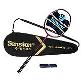 Senston - Ensemble de Haut Niveau Graphite Raquette de Badminton - Y Compris Badminton Sac/Raquettes/Prise en Main