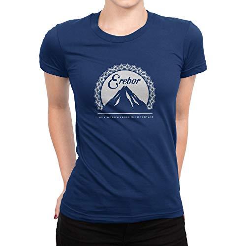 Planet Nerd Erebor - Damen T-Shirt, Größe S, dunkelblau