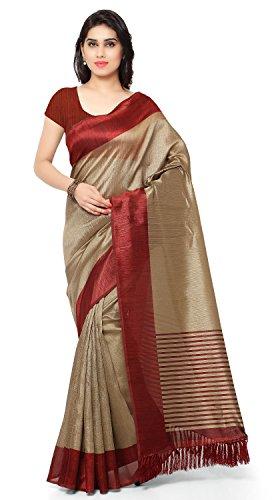 Rajnandini Women's Tassar Silk Saree (Joplnb3011C_Maroon)