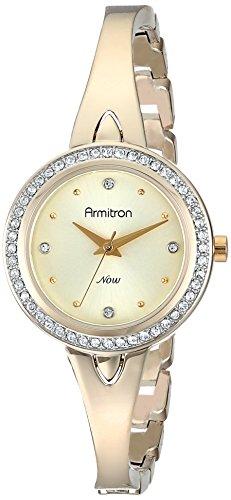 Armitron 75/5238CHGP - Reloj de Pulsera Mujer, Latón, Color Oro