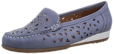 ara Newport, Mocassins pour femme - Bleu - Blau (jeans 06), 36.5 EU