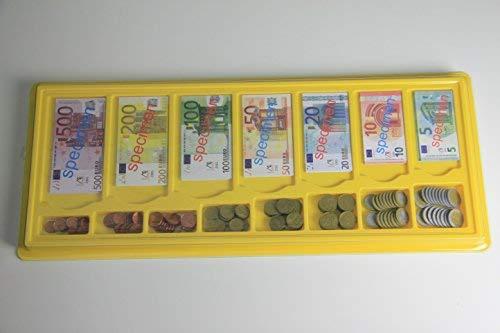 Euro - Geldkasette, 130 Scheine / 160 Münzen Spielgeld Münzgeld Banknoten