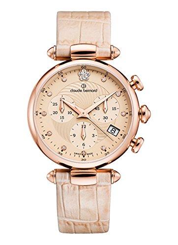 Claude Bernard Women's Quartz Watch with Silver Dress Code Chronograph Date Quartz 1021537R BEIR2