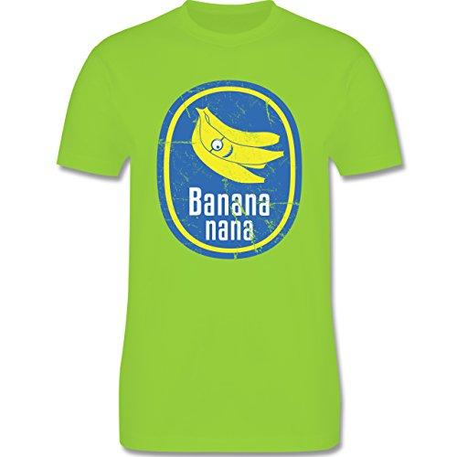 Comic Shirts - Banana nana Vintage - Herren Premium T-Shirt Hellgrün