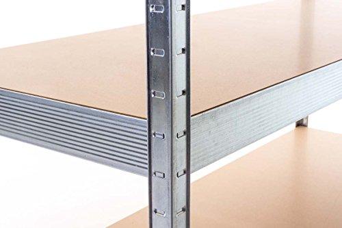CLP scaffale ad alta portata, in metallo, zincato, scaffalature metalliche componibili per ...