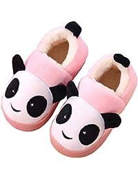 Niñas Niños Zapatillas Invierno Otoño Slippers Casa Interior Caliente Pantuflas Suave Algodón Animados Historieta Zapatos Mujer Hombres
