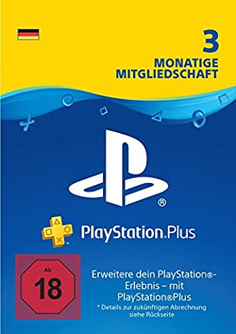 PlayStation Plus Mitgliedschaft | 3 Monate | PS4/PS3 Download Code - deutsches Konto
