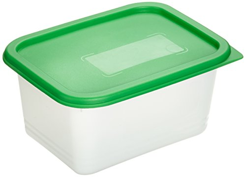 Rotho Domino 4er Set Vorratsdosen, Kunststoff (BPA-frei), grün / transparent, 4 x 0.75 Liter (15,7 x 11,8 x 8 cm)