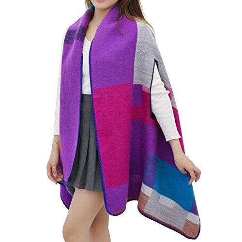 Eizur À la mode Imitation Cachemire Écharpe Châle Ladies Géométrique Automne Hiver Longue Chaud Foulards Surdimensionné Wrap Pashmina Couverture Taille 180*68cm