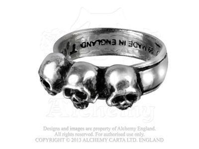 Alchemy Gothic (Metal-Wear), Caput Mortum Ring (Alchemy Gothic Schädel Ring)